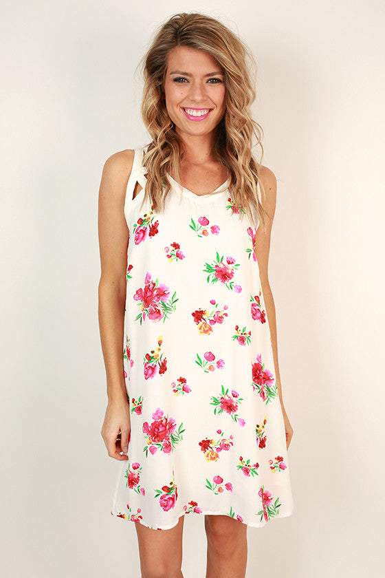 First Class Flair Floral Shift Dress