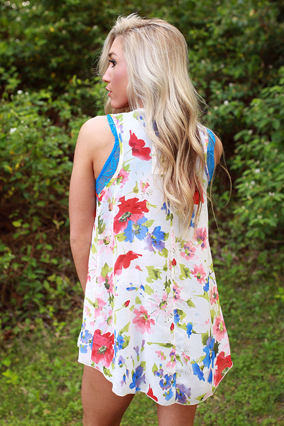 Faithful in Floral Tank