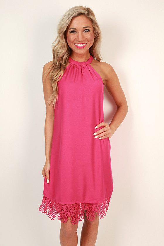 Champagne Bubbly Shift Dress in Rose