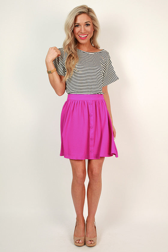 Pretty in Pleats Mini Skirt