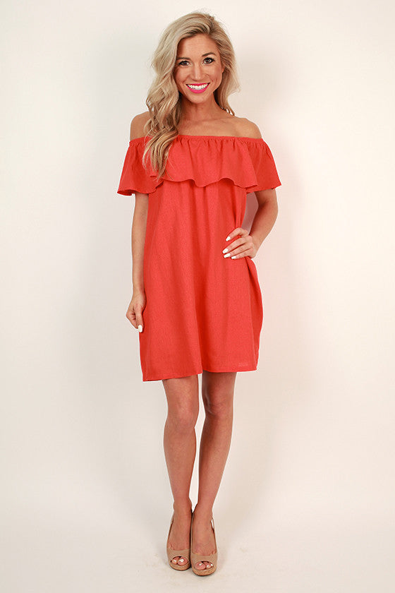 Laughs and Lemonade Linen Dress in Fiesta