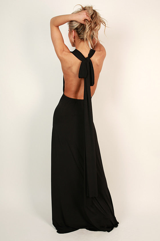 Sweet Serendipity Multi-Wear Maxi Dress in Black