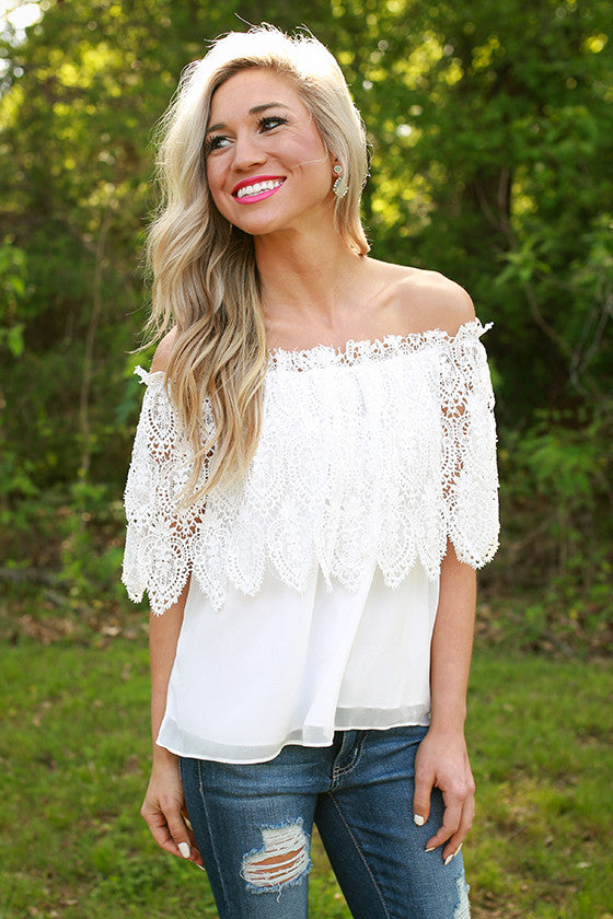 Lavish in LA Lace Top