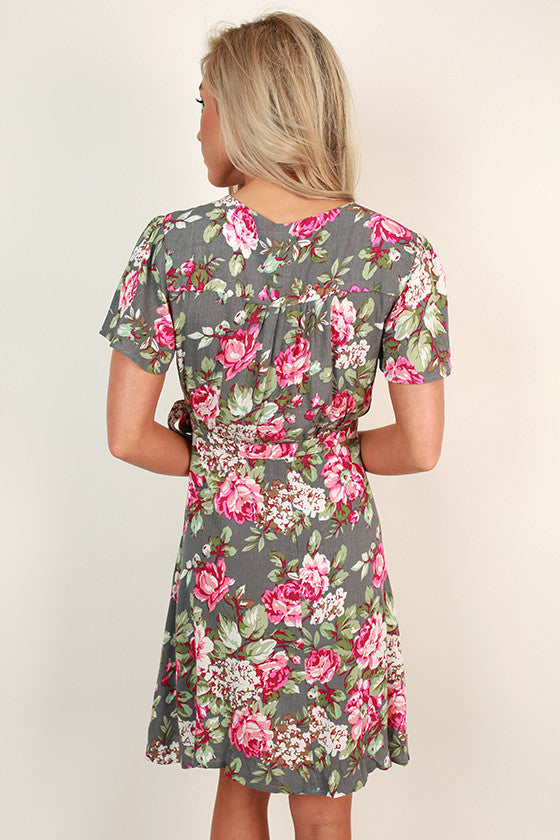 So Kate Floral Wrap Dress