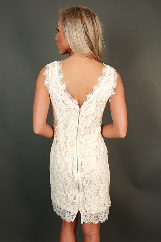 Femme Fatale Lace Mini Dress