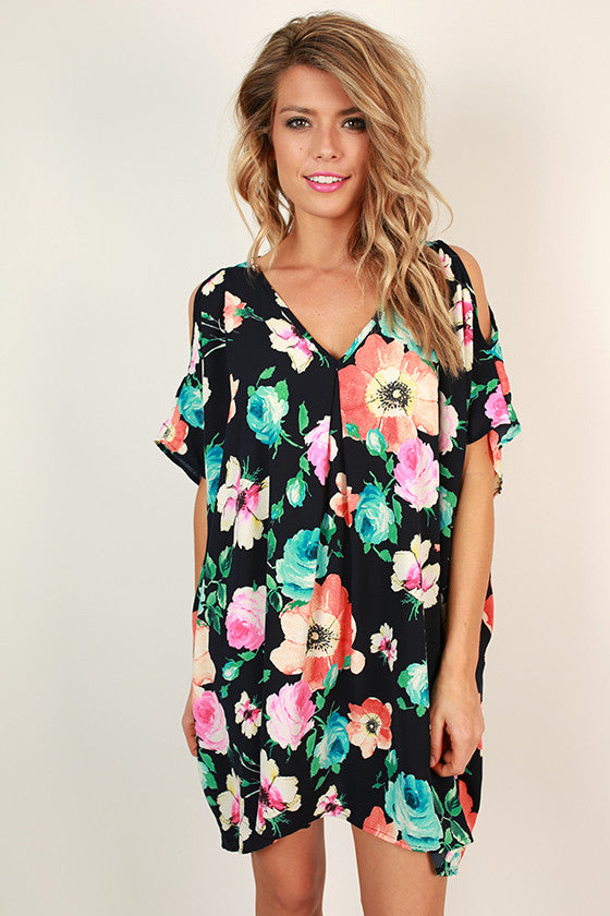 Playful in Poppies & Peonies Floral Tunic