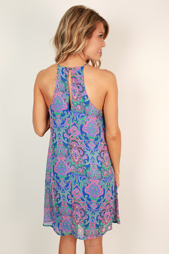 Weekend Wanderer Print Shift Dress