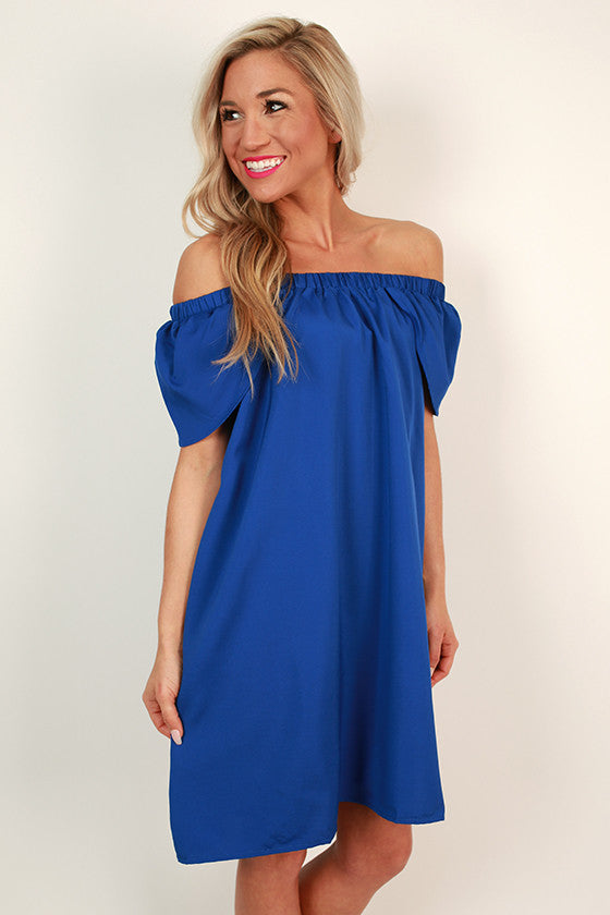 Darling Date Night Off Shoulder Shift Dress