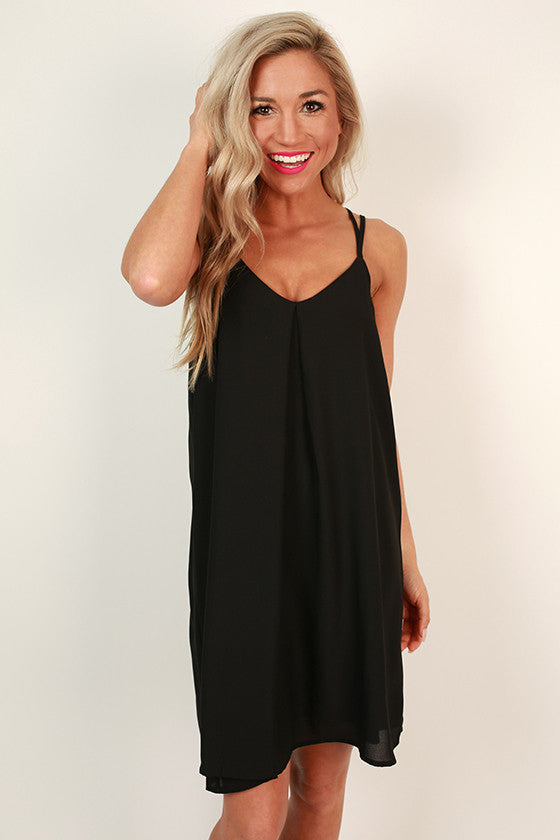 Getaway Ready Shift Dress in Black