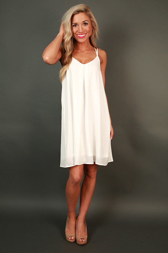 Getaway Ready Shift Dress in White