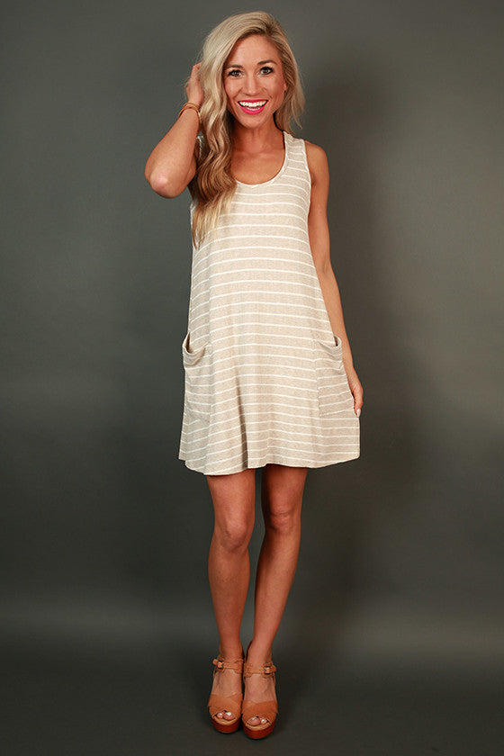 Social in Stripes Dress in Birch