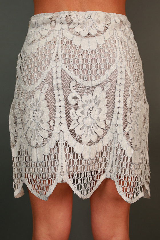 Lily in Love Lace Skirt
