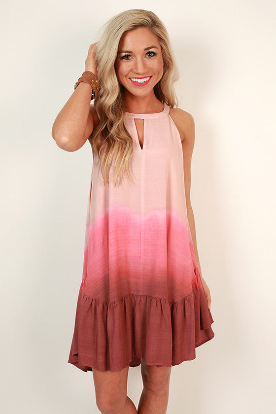 Venice Love Ombre Tank Dress in Pink