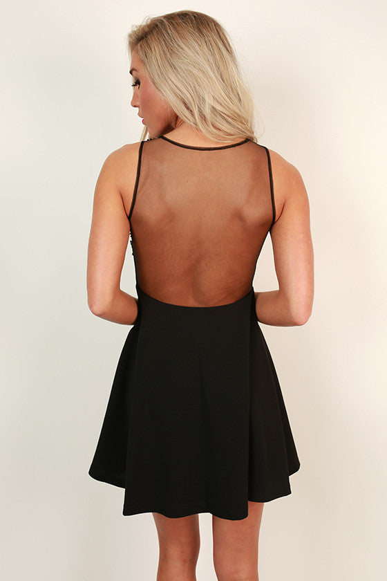 Here Comes The Beauty Mini in Black