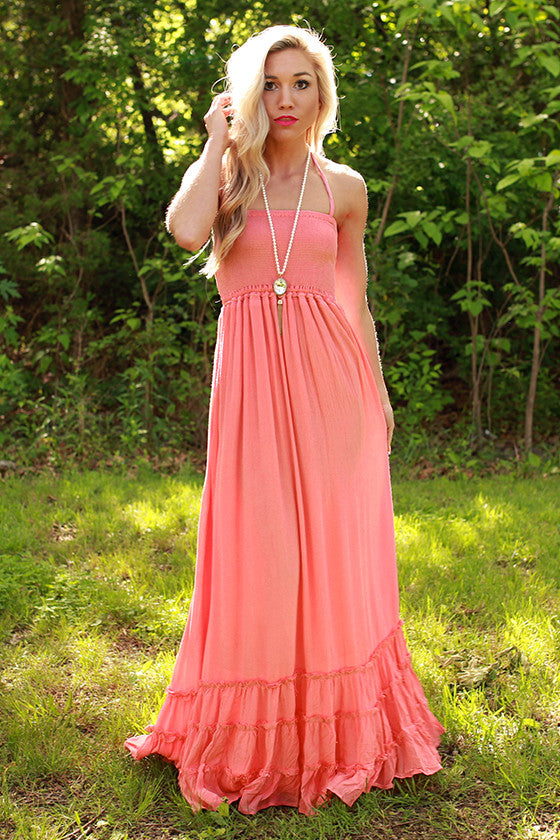 Twirling at Twilight Maxi Dress in Calypso