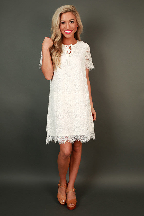 Glamorous Dreams Shift Dress in White