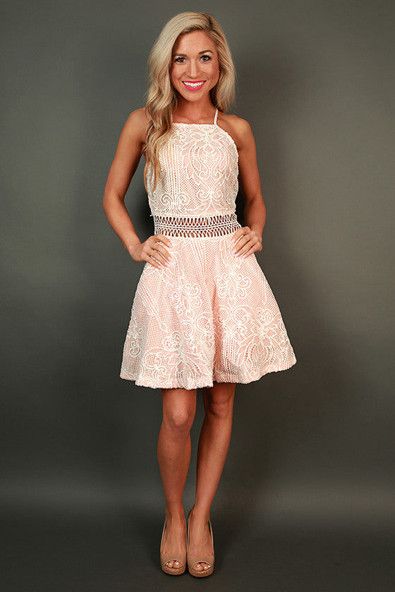 Blushing & Beautiful Fit & Flare Dress