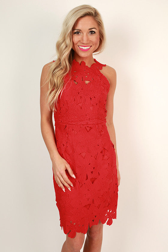 Uptown Party Mini Dress in Red