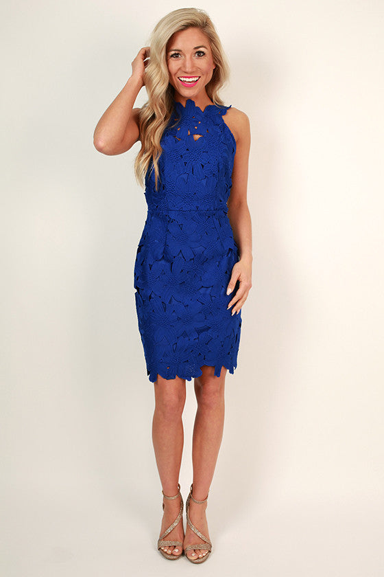 Uptown Party Mini Dress in Sapphire
