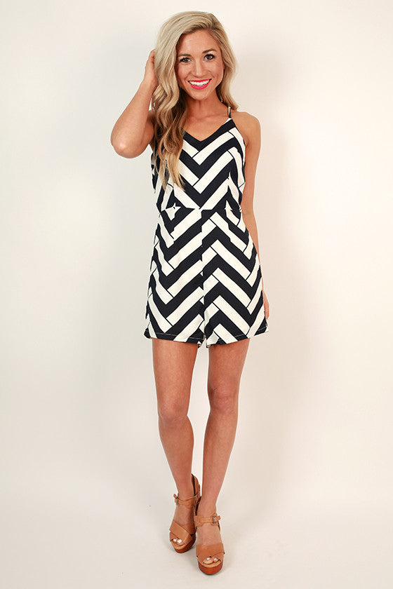 Parisian Summer Stripe Romper