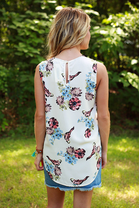 Just For Fun Floral Shift Tank
