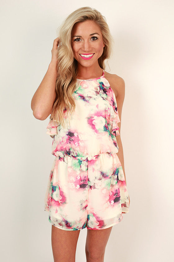 What A Lady Print Romper