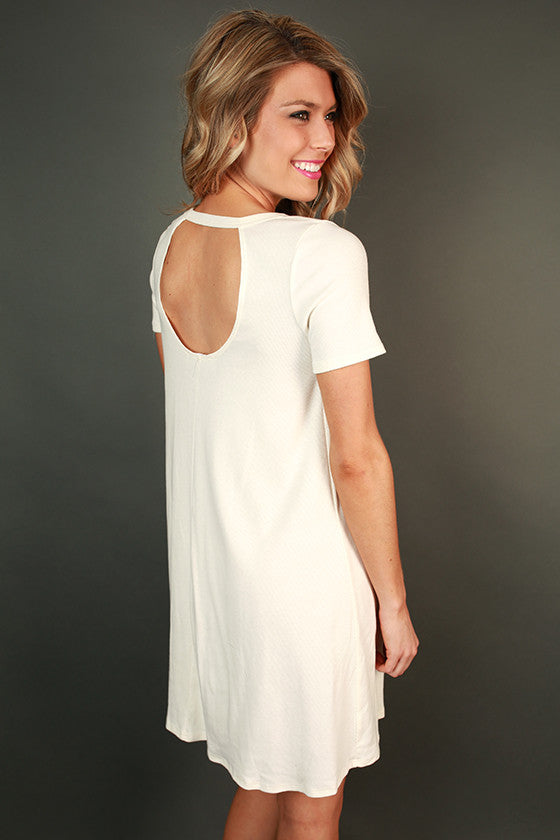 Coffee Date Shift Dress in Ivory