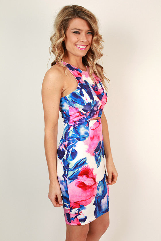The Waverly Watercolor Mini Dress