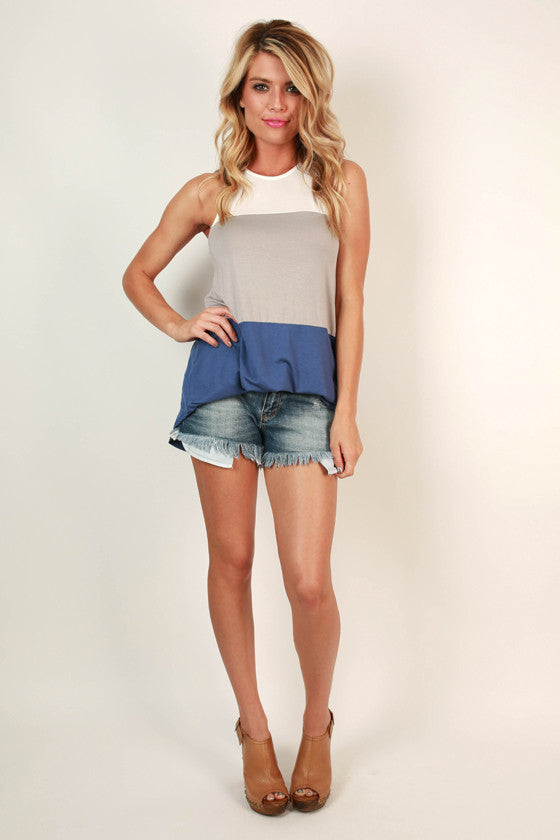 Nantucket Vacation Colorblock Tank