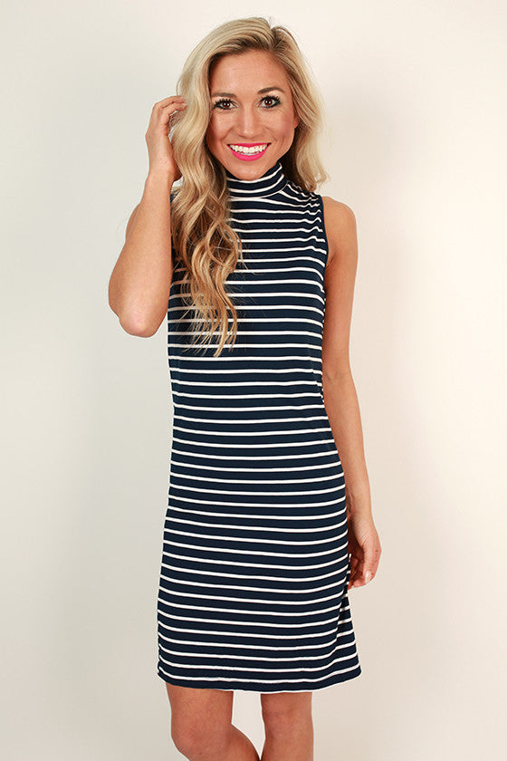 When Sparks Fly Stripe Tank Dress