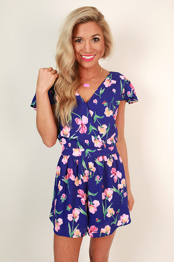 Flawless in Floral Romper
