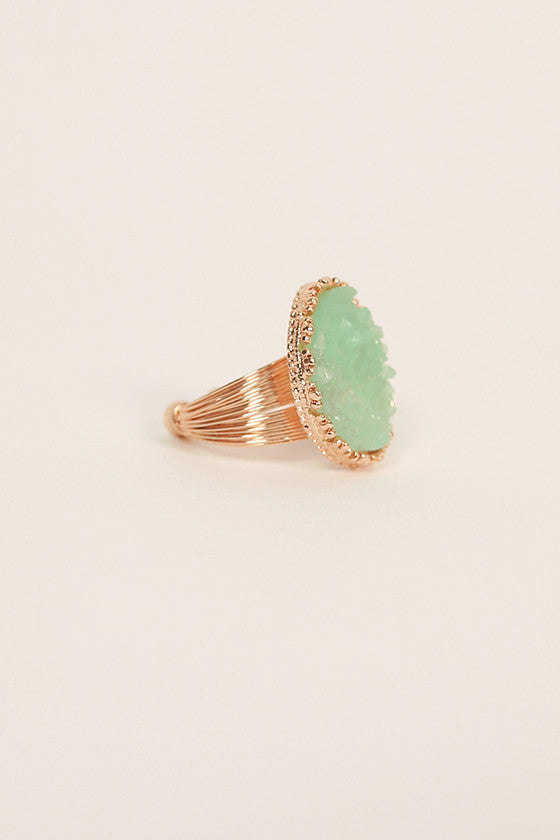 Bling It On Druzy Ring