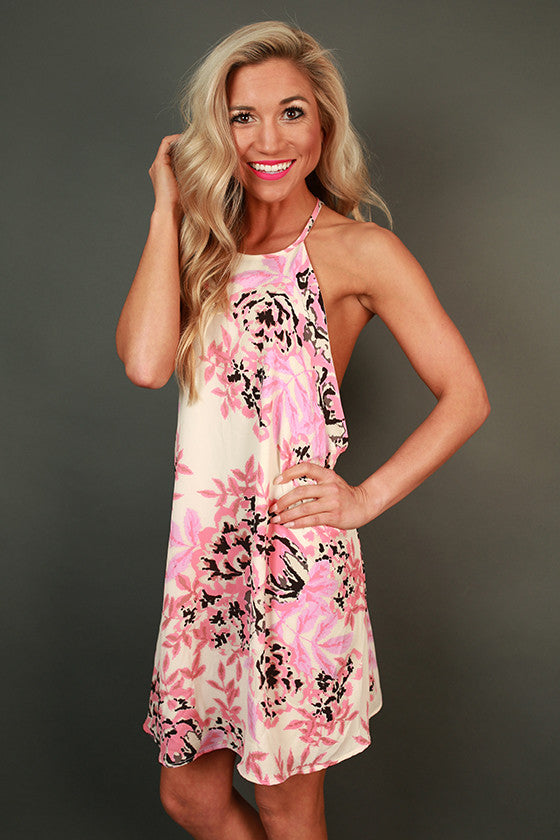 Posey in Pink Floral Dress