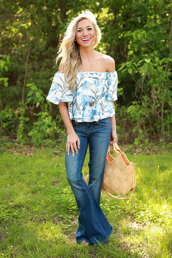 Hawaiian Sea Breeze Off Shoulder Top