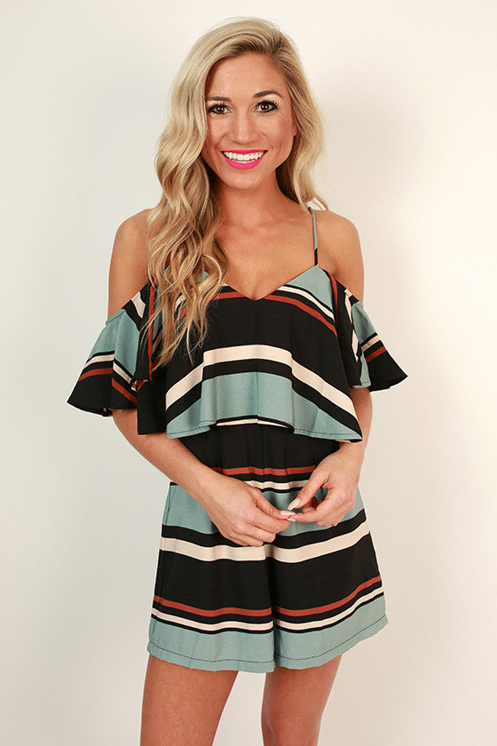 Patio Sipping Stripe Romper
