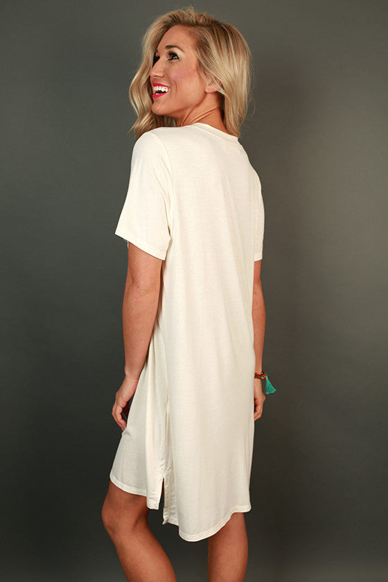 Everyday Beauty T-Shirt Dress in Ivory