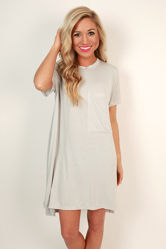 Everyday Beauty T-Shirt Dress in Grey