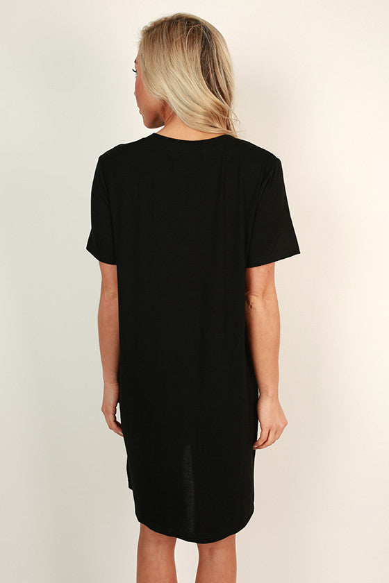 Everyday Beauty T-Shirt Dress in Black