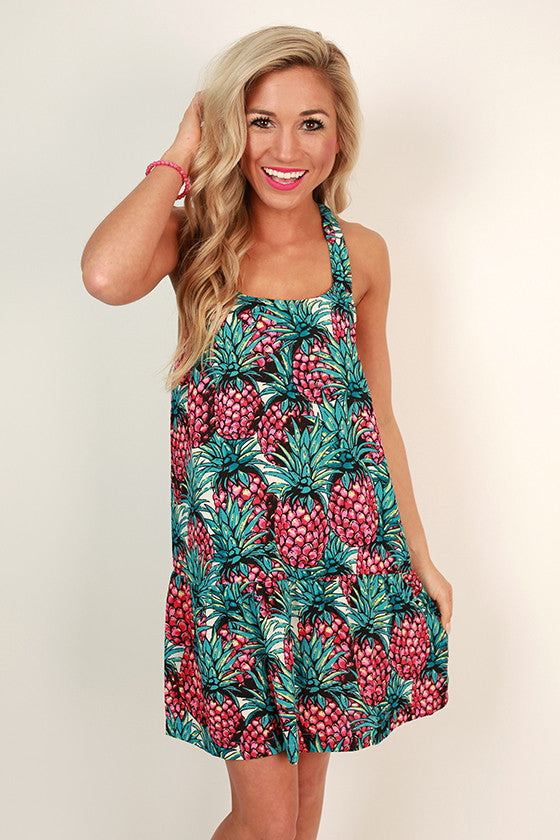 Sweet Pineapple Shift Dress