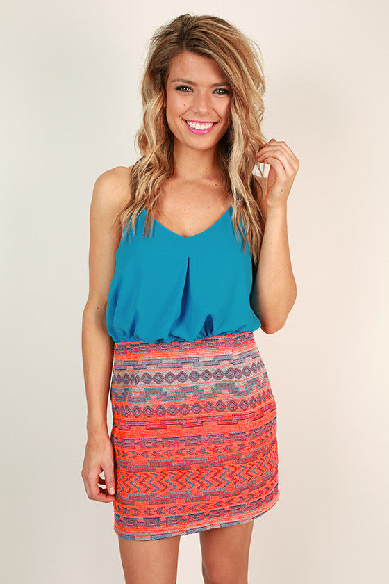 Sangria Sunsets Mini Dress