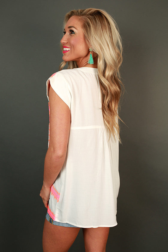 Oyster Oasis Shift Top