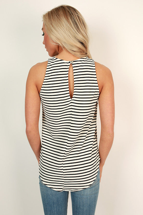 Stripes & Sunshine Shift Tank