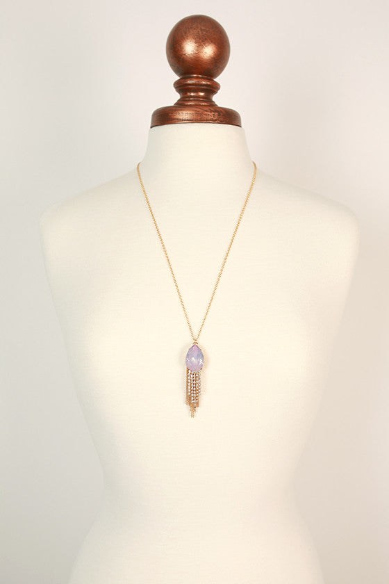 We Found Love Tassel Necklace in Baby Pink
