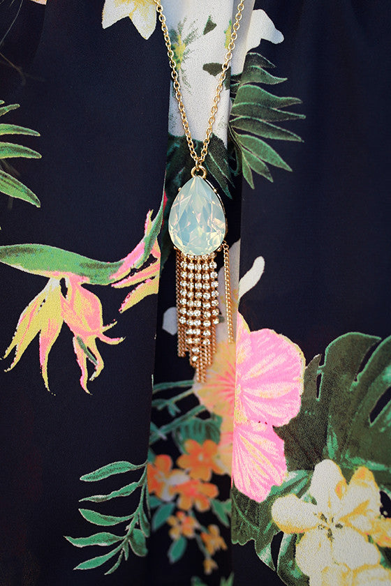 We Found Love Tassel Necklace in Light Limpet Shell