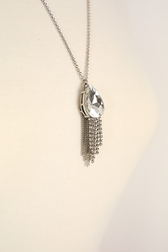 We Found Love Tassel Necklace in Silver