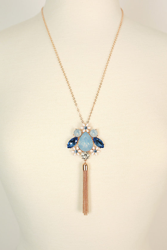 Endless Glam Crystal Necklace in Serenity