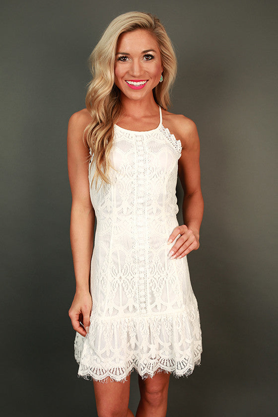 Downtown Date Night Lace Mini Dress