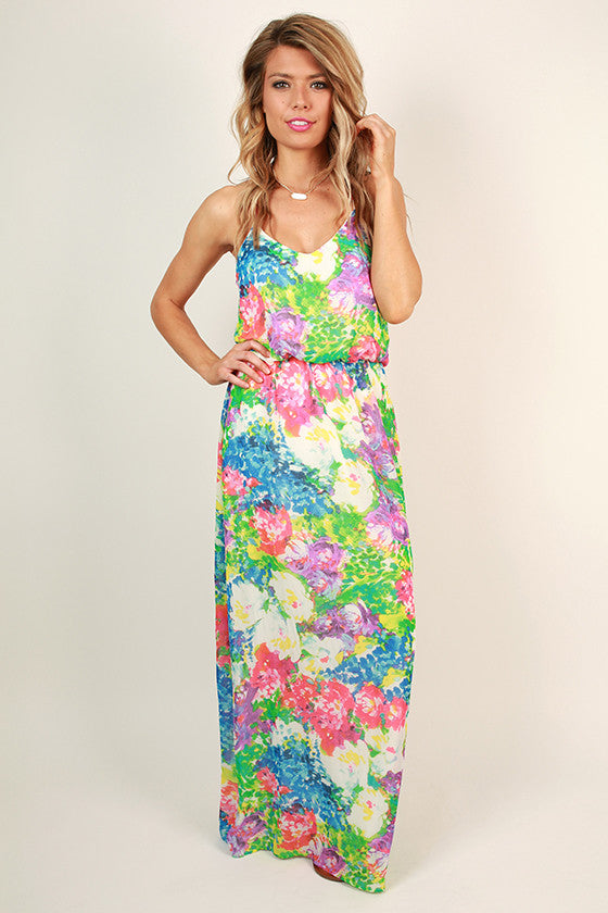 Flower Hour Maxi Dress