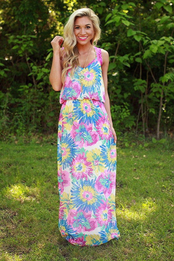 Blooms & Bliss Floral Maxi Dress