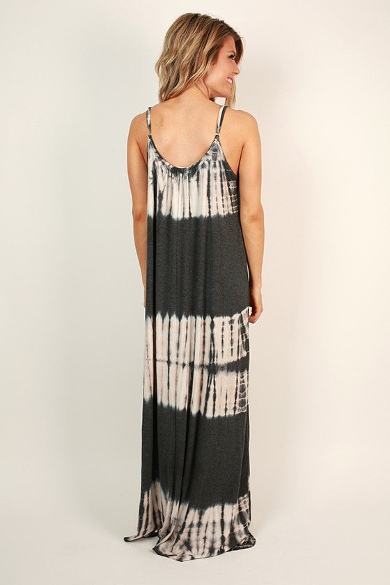 Walking on Cloud Nine Tie Dye Maxi Dress